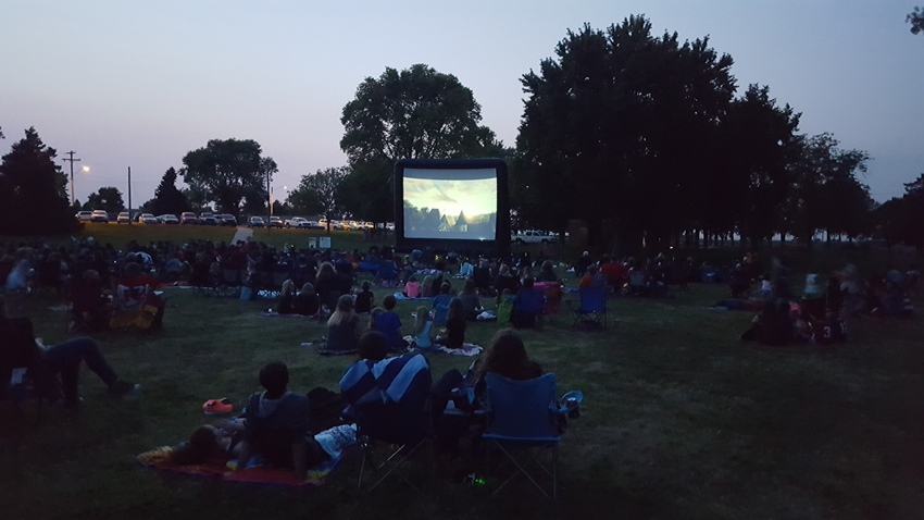 movie screen at Libs Park