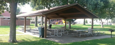 View Larger Highland Picnic Shelter- $35 includes 110 electricity, grill
